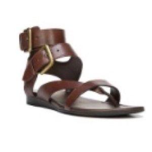Franco Sarto Brown Glinda Wedge Sandal